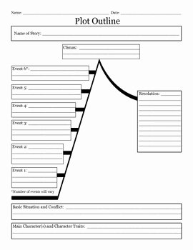 Plot Diagram Worksheet Pdf New Story Plot Outline Worksheet by Jewels
