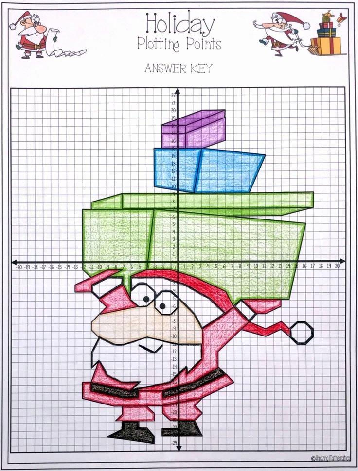 Plotting Points Worksheet Pdf Fresh Christmas Plotting Points Mystery Picture