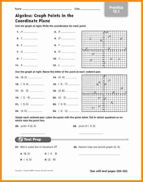Plotting Points Worksheet Pdf Fresh Plotting Points Worksheet