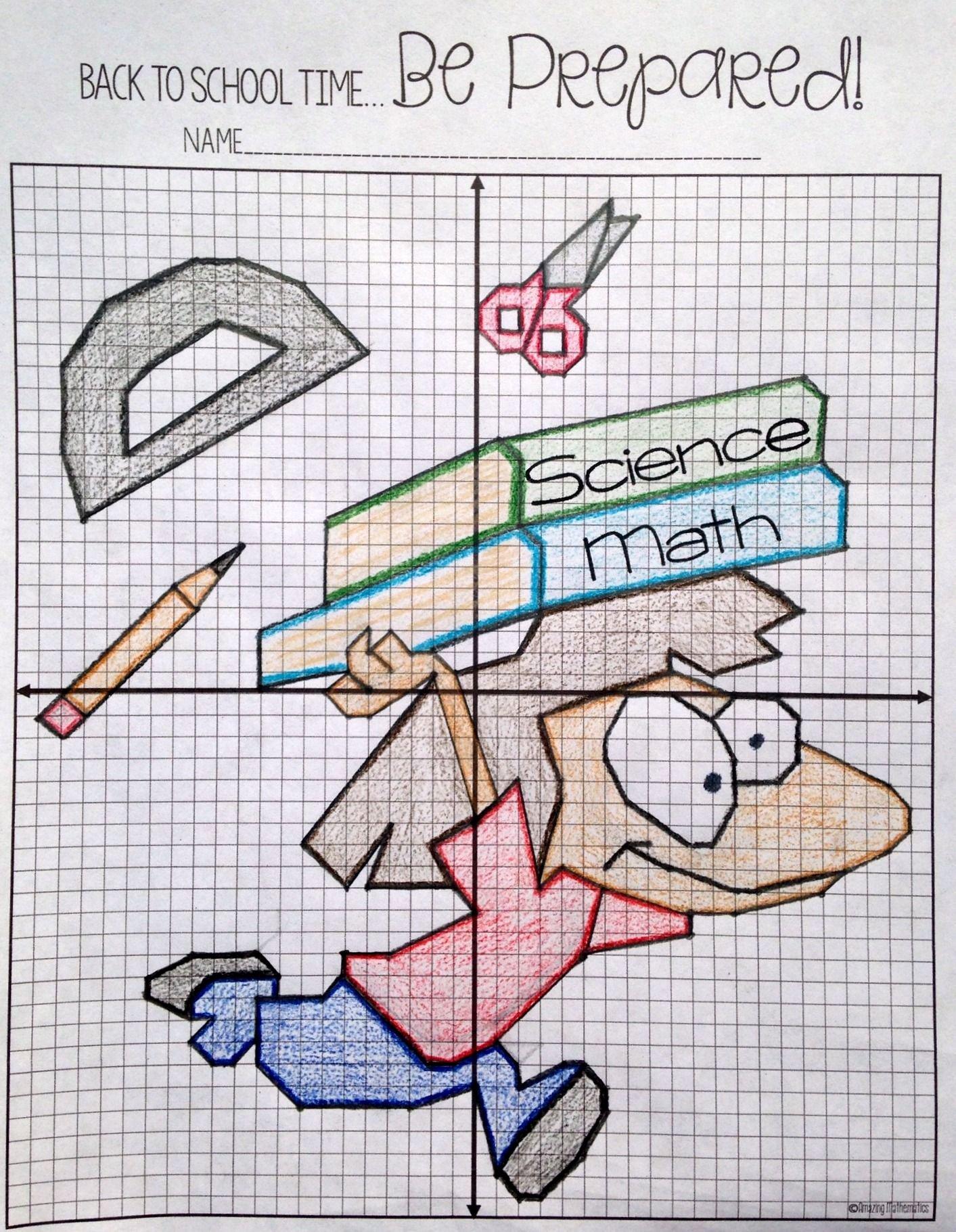 Plotting Points Worksheet Pdf Lovely Back to School Plotting Points Mystery Picture