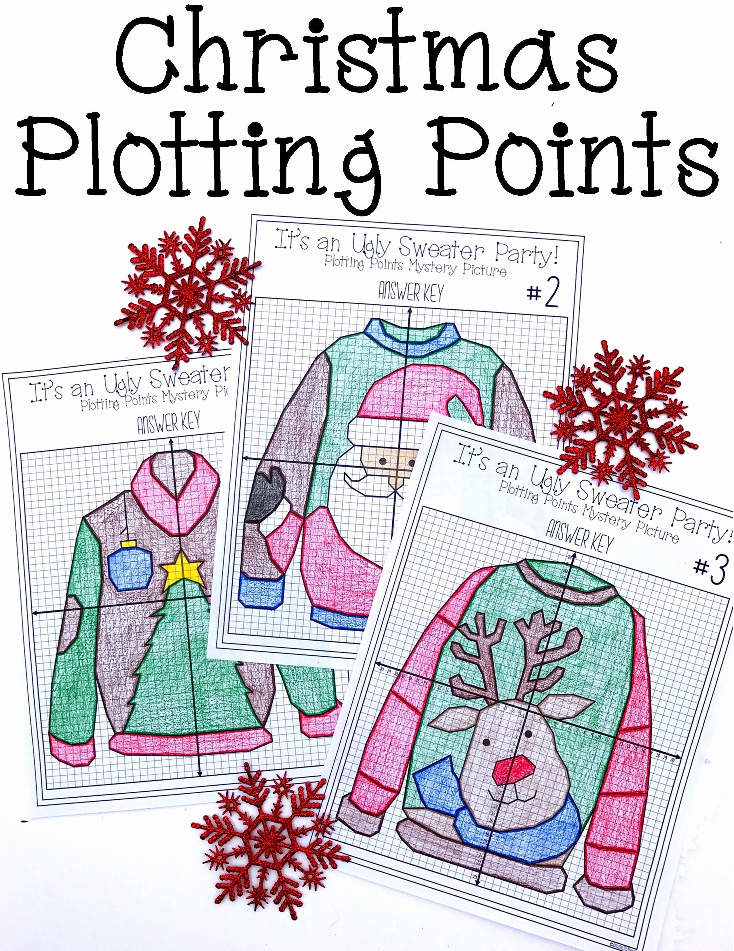 Plotting Points Worksheet Pdf New Christmas Math Activity Ugly Sweaters Plotting Points