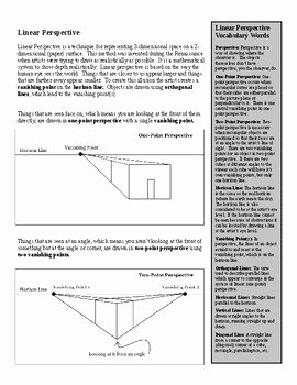 e Point and Two Point Perspective Worksheet Packet