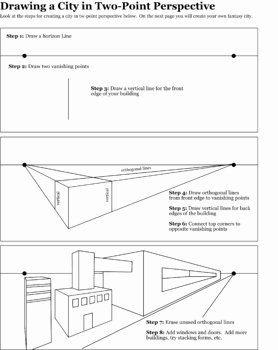 Point Of View Worksheet 11 Lovely Two Point Building Worksheet by Jewels