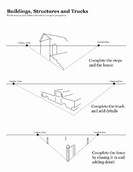 Point Of View Worksheet 11 New E Point and Two Point Perspective Worksheet Packet by