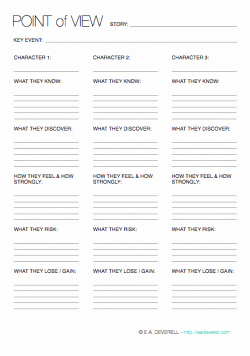 Point Of View Worksheet Best Of Point Of View Writing Worksheet Wednesday