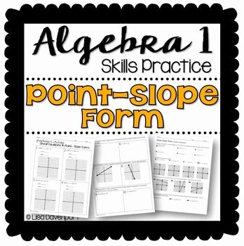 Point Slope form Practice Worksheet Awesome Point Slope form Practice Worksheet by Lisa Davenport