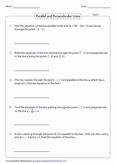 Point Slope form Practice Worksheet Unique Point Slope form Of Equation Of A Line Worksheets
