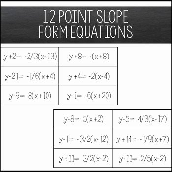 Point Slope form Worksheet New Graphing Lines & Zombies Point Slope form by Amazing