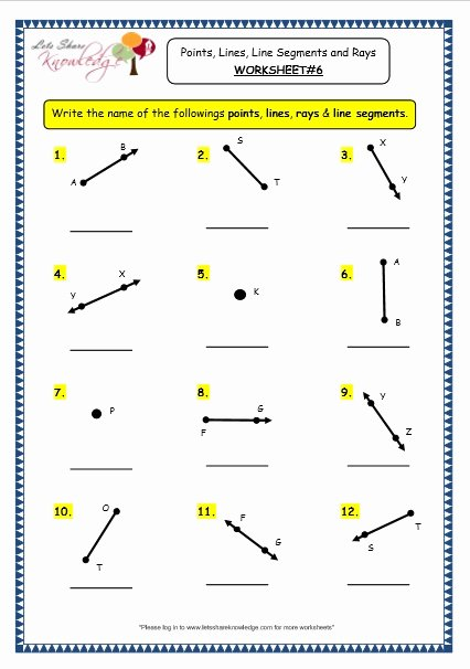Points Lines and Planes Worksheet Beautiful Grade 3 Maths Worksheets 14 1 Geometry Points Lines