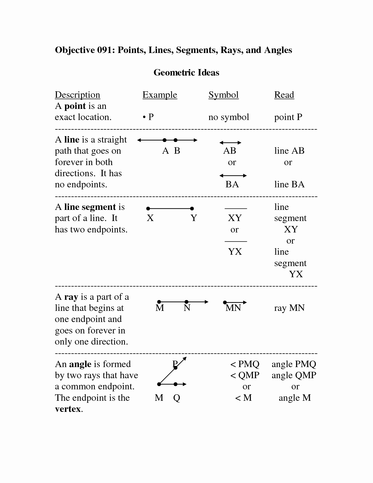 Points Lines and Planes Worksheet Best Of Geometry Points Lines Planes Worksheet