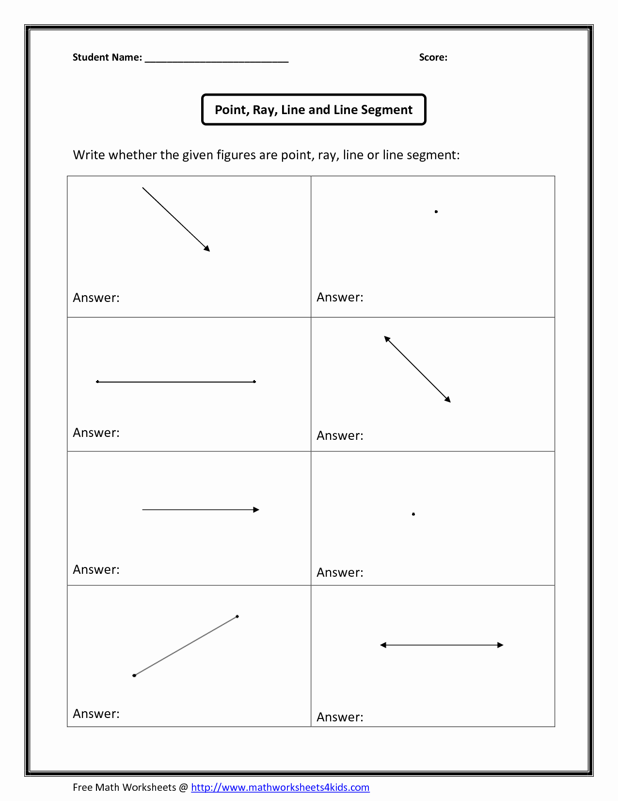 Points Lines and Planes Worksheet Best Of Points Lines Planes Worksheet and Puzzle