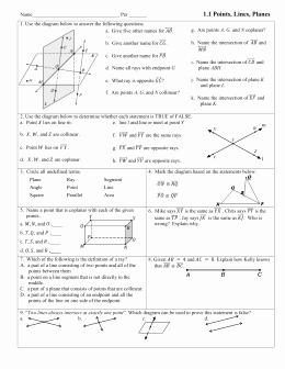 Points Lines and Planes Worksheet Fresh Studylib Essys Homework Help Flashcards Research