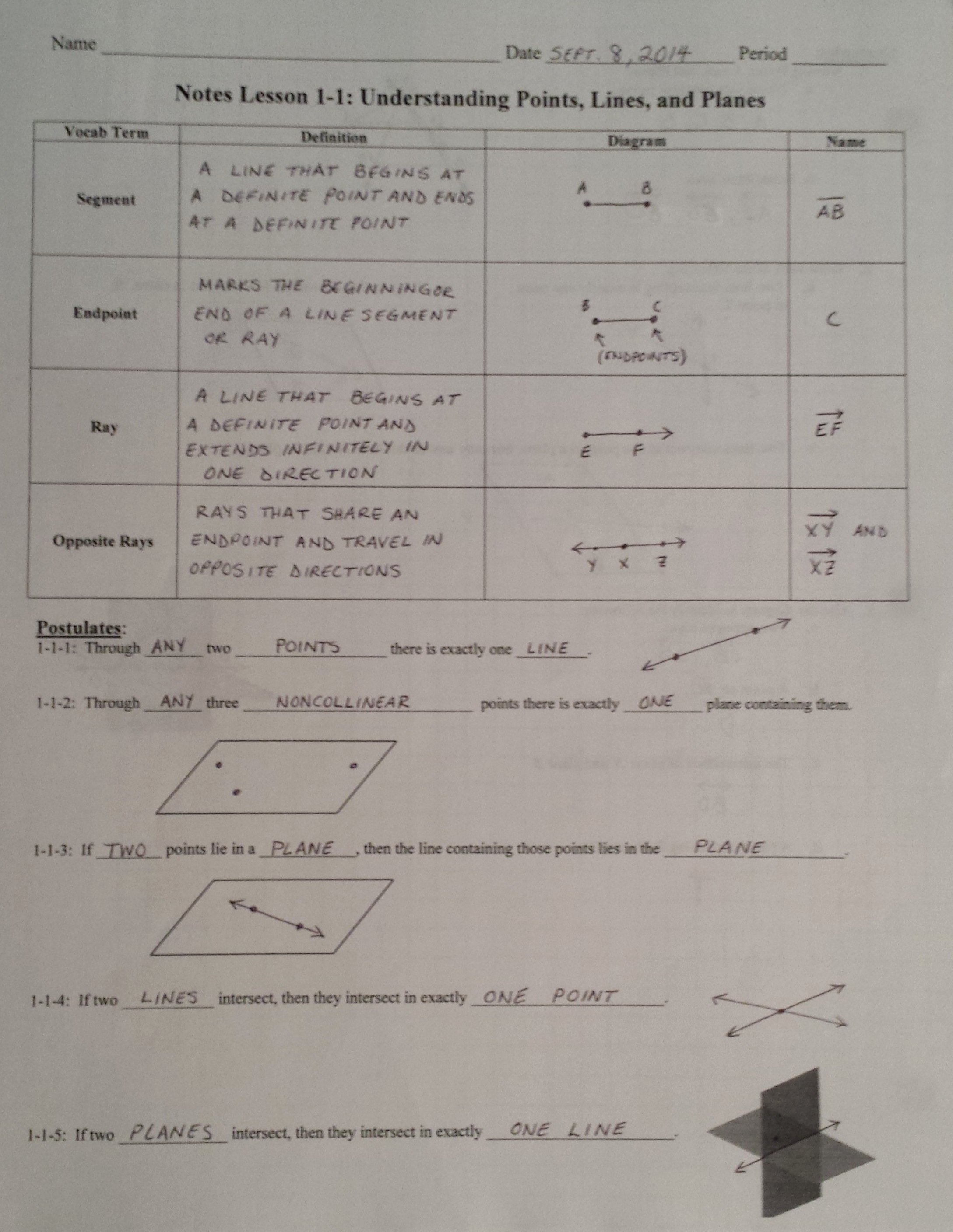 Points Lines and Planes Worksheet Inspirational Points Lines and Planes Worksheets Pdf the Best Worksheets