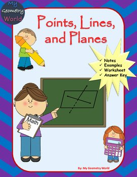 Points Lines and Planes Worksheet Lovely Geometry Worksheet Points Lines and Planes by My