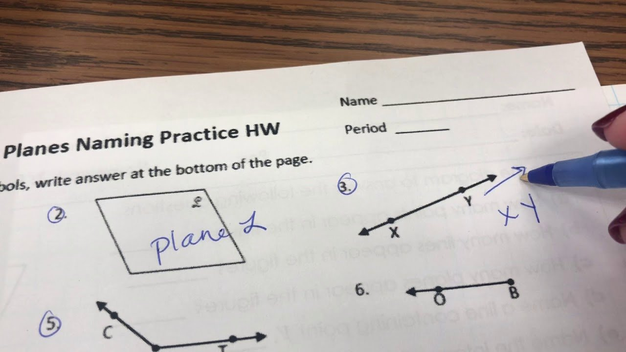 Points Lines and Planes Worksheet Luxury Unit 2 Points Lines and Planes Worksheet Ex