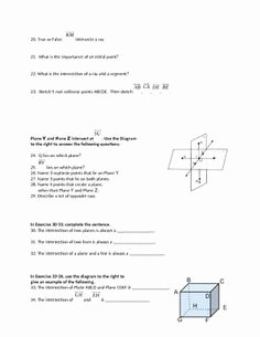 Points Lines and Planes Worksheet Unique Investigating Points Lines and Planes Activity