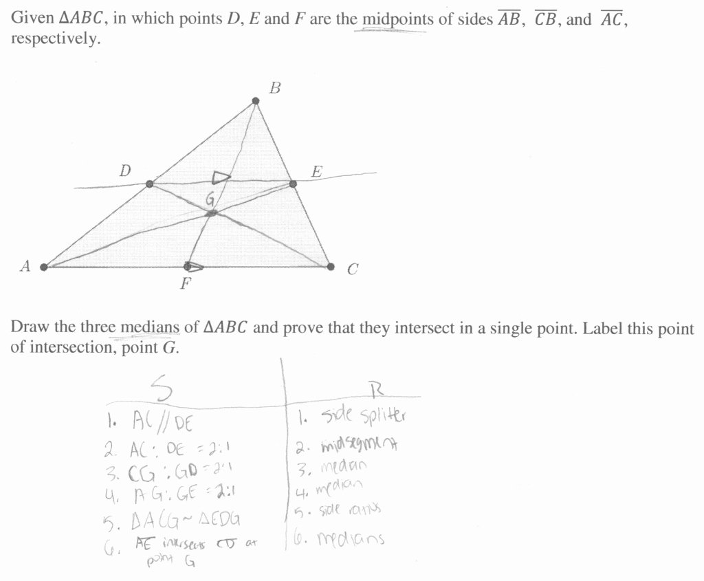 Points Of Concurrency Worksheet Answers Lovely Unbelievable Median Concurrence Proof Students are asked