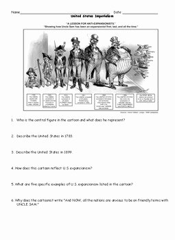Political Cartoon Analysis Worksheet Awesome Imperialism Us Imperialism Political Cartoon Worksheet