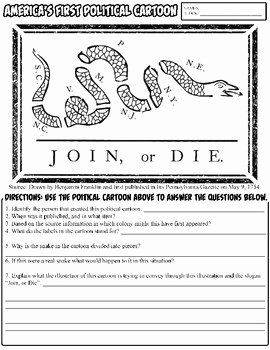 Political Cartoon Analysis Worksheet Best Of Join or Die Political Cartoon Analysis by Mr Barnes