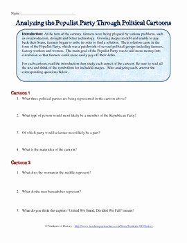 Political Cartoon Analysis Worksheet Elegant Us History Analyzing Political Cartoons Worksheet Answers