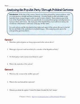 Political Cartoon Analysis Worksheet Elegant Us History Analyzing Political Cartoons Worksheet Answers