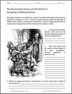 Political Cartoon Analysis Worksheet Fresh Russian Revolution On Pinterest