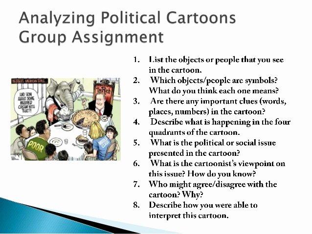 Political Cartoon Analysis Worksheet Inspirational Analyzing and Creating Political Cartoons