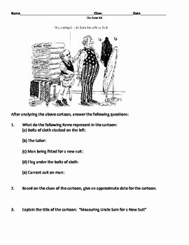 Political Cartoon Analysis Worksheet Unique U S Imperialism Political Cartoon Worksheet by Set S