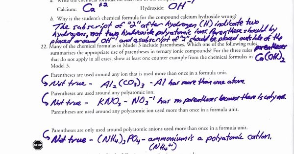 Polyatomic Ions Worksheet Answers Awesome Polyatomic Ions Worksheet Answer Key