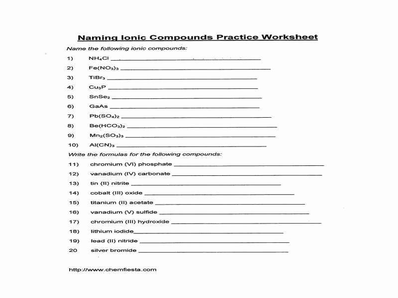 Polyatomic Ions Worksheet Answers New Polyatomic Ions Worksheet