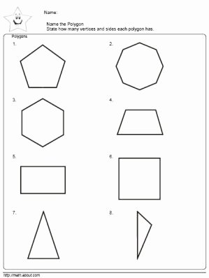 Polygon and Angles Worksheet Best Of Geometry Worksheets Polygons Angles and Vertices