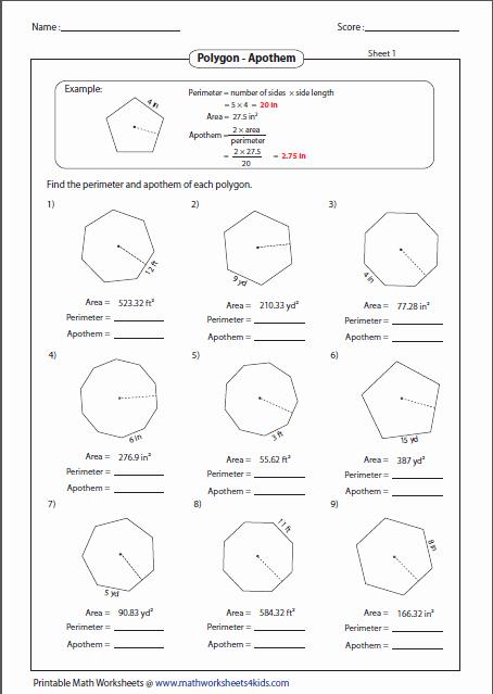 Polygon and Angles Worksheet Elegant Polygon Worksheets