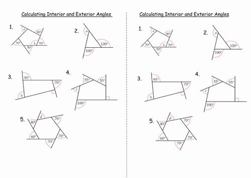 Polygon and Angles Worksheet Lovely Interior and Exterior Angles Of Polygons by Clairelogan100