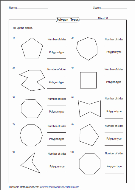 Polygon and Angles Worksheet Lovely Polygon Worksheets