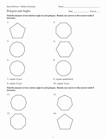 Polygon and Angles Worksheet Luxury Angle Bisectors Kuta software