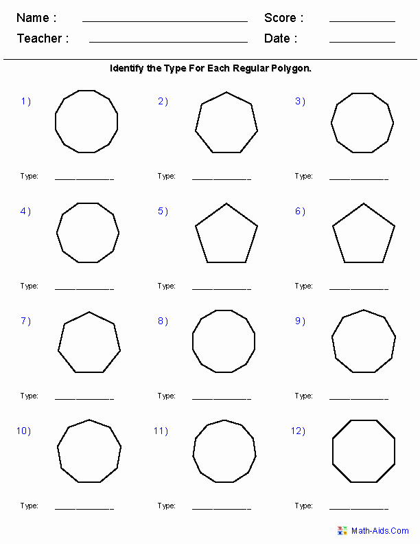 Polygon and Angles Worksheet Unique Geometry Worksheets