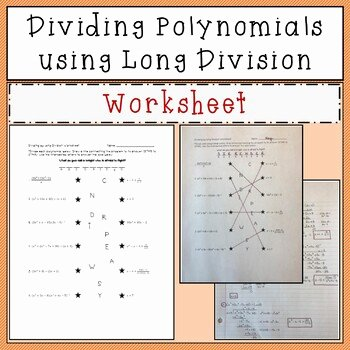 Polynomial Long Division Worksheet Elegant Dividing Polynomials Using Long Division Joke Worksheet by