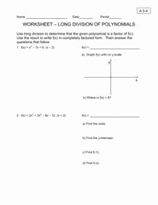 Polynomial Long Division Worksheet Inspirational Roots Of Polynomials Lesson Plans & Worksheets