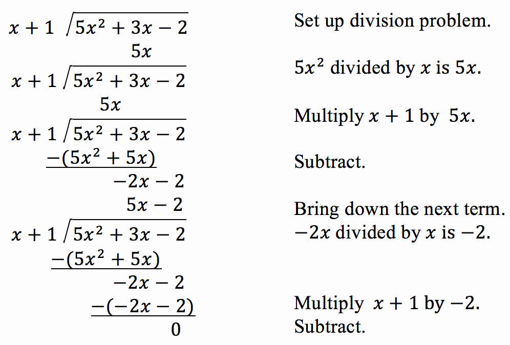 Polynomial Long Division Worksheet Luxury Use Long Division to Divide Polynomials