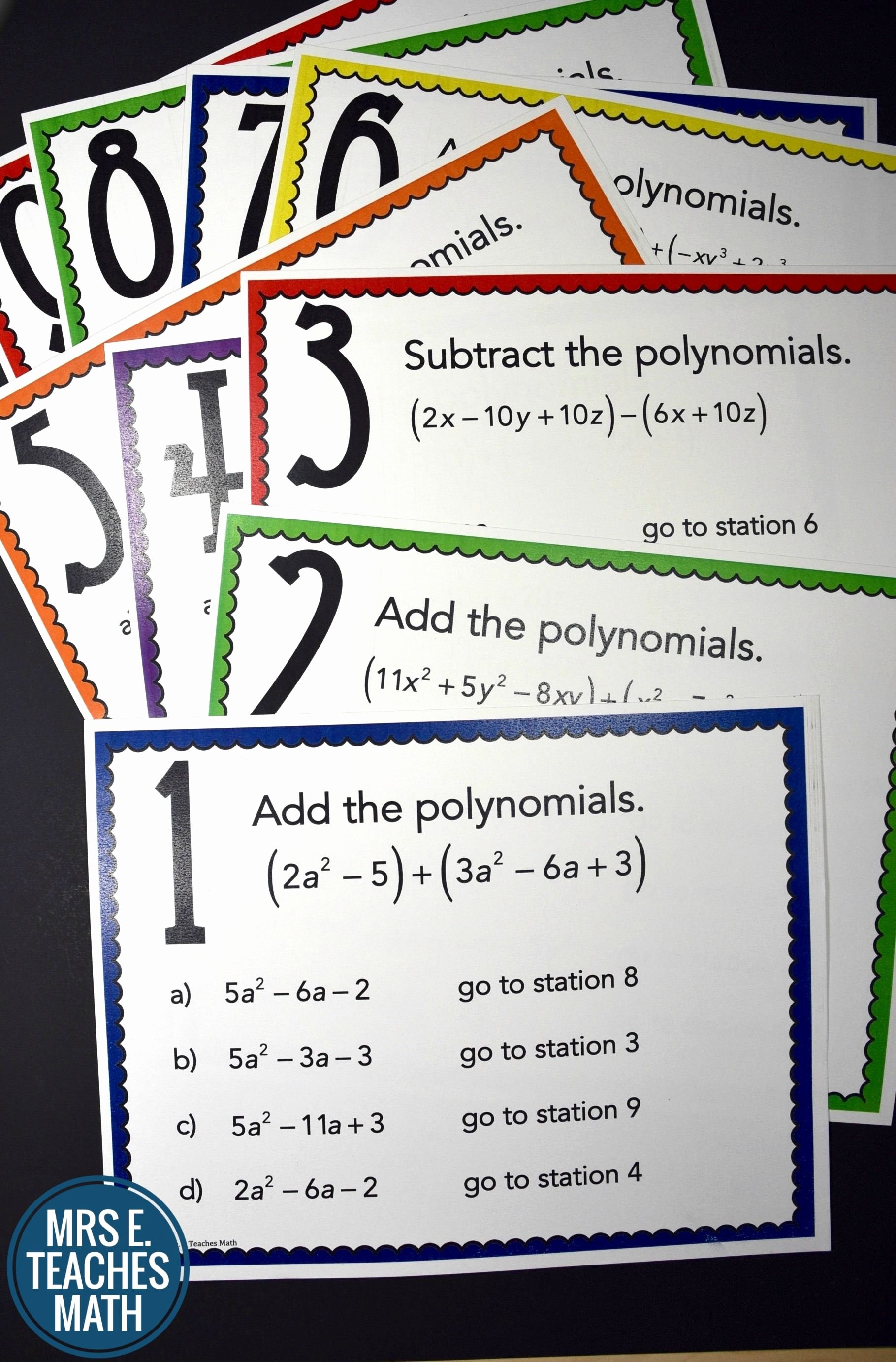 Polynomial Word Problems Worksheet Unique Add and Subtract Polynomials Stations Maze Activity