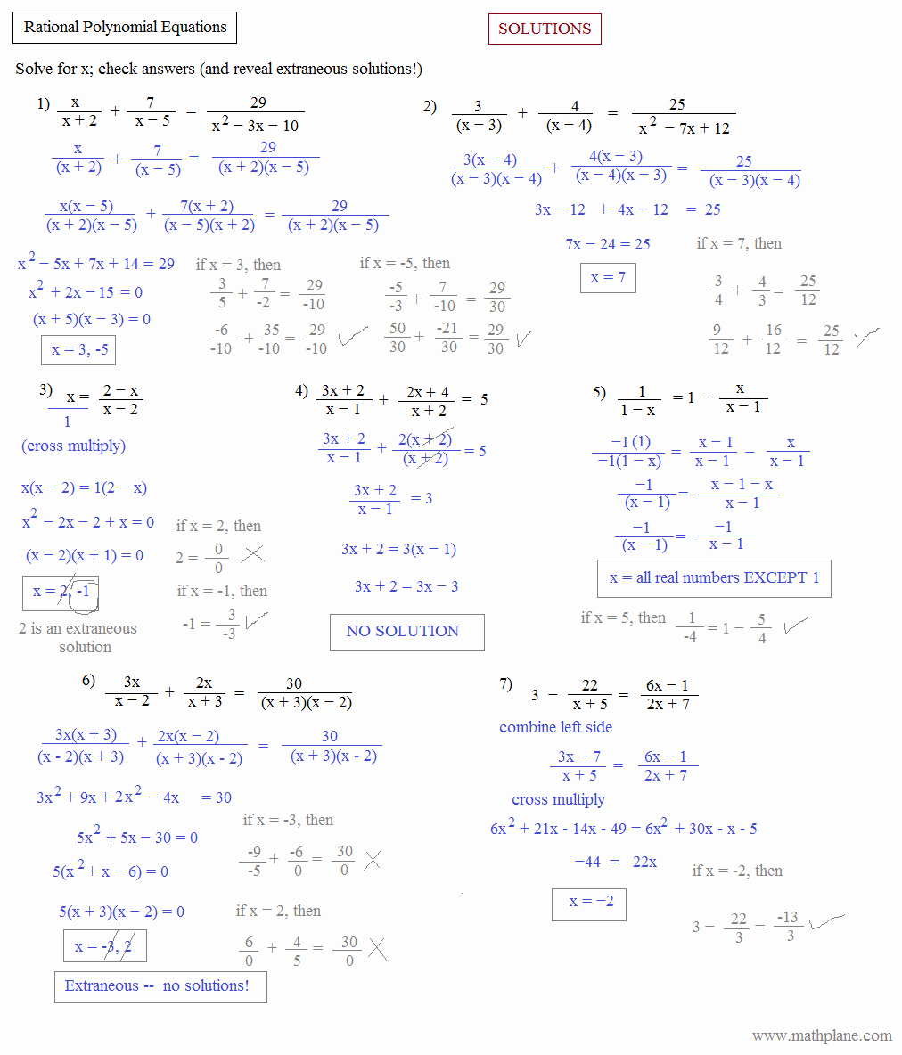 Polynomials Worksheet with Answers Beautiful Math Plane Algebra Ii Preview