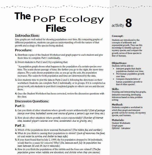 Population Ecology Graph Worksheet Unique Human Population Growth Worksheet