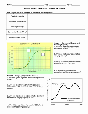 Population Ecology Graphs Worksheet Answers Best Of Population Ecology Worksheet Fill Line Printable