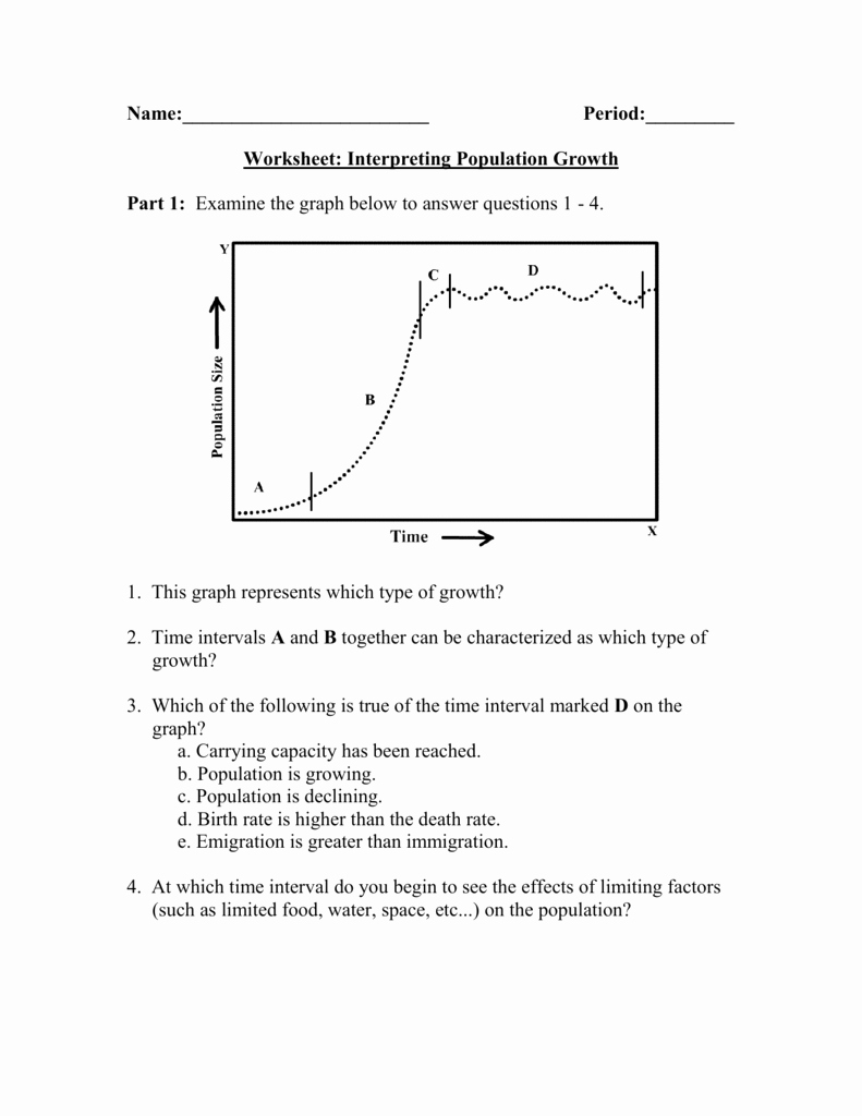 Population Ecology Graphs Worksheet Answers Fresh Population Growth Worksheet Answers the Best Worksheets
