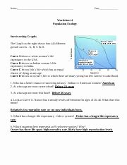 Population Ecology Graphs Worksheet Answers Inspirational Population Ecology Graph Worksheet 1 Name Block Date