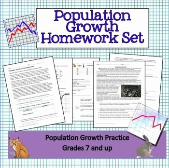 Population Growth Worksheet Answers Inspirational Ecology Population Growth Homework