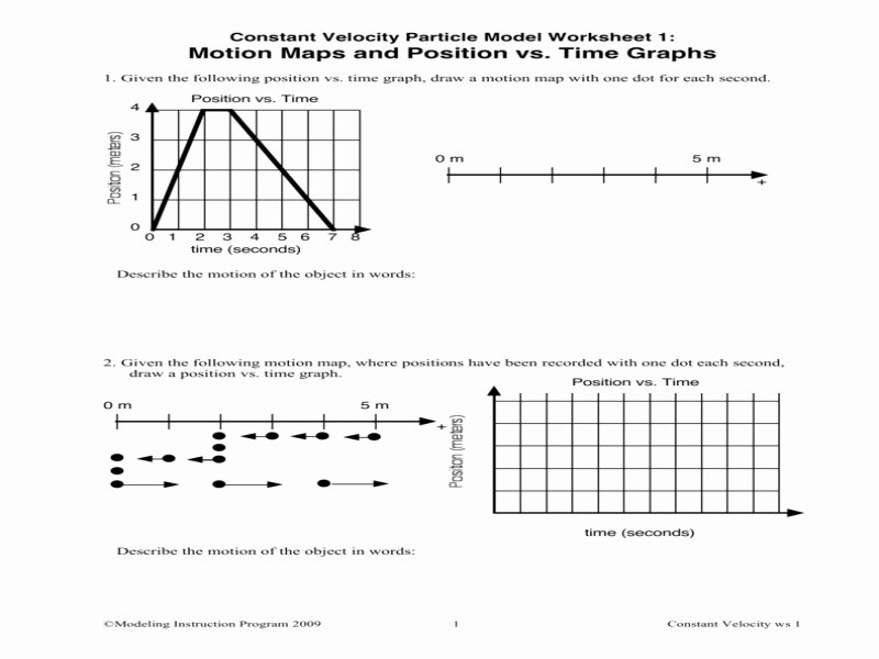 Position Time Graph Worksheet Awesome Position Vs Time Graph Worksheet Free Printable Worksheets