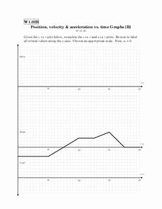 Position Time Graph Worksheet New Position Velocity & Acceleration Vs Time Graphs