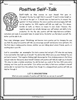 Positive Self Talk Worksheet Awesome Positive Self Talk Flower Craft by Pathway 2 Success