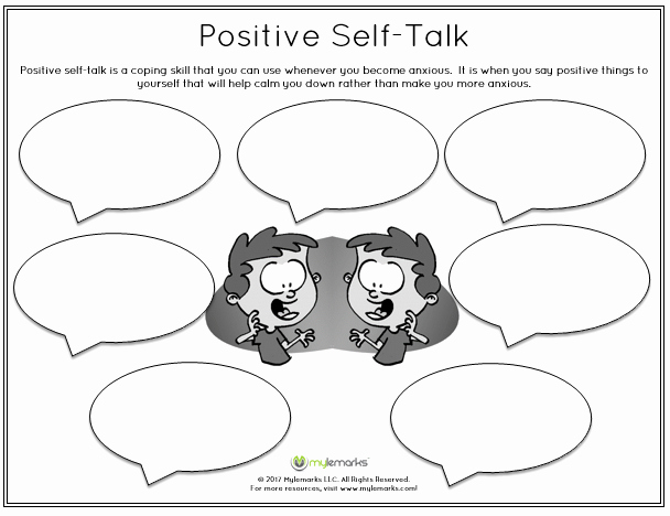 Positive Self Talk Worksheet Beautiful Anxiety and Stress Worksheets